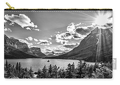 St. Mary Lake Bw Carry-all Pouch by Aaron Aldrich
