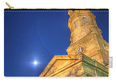 St. Phillip's At Night With Moon And Stars Carry-all Pouch