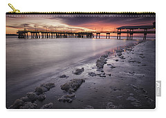St. Simons Pier At Sunset Carry-all Pouch by Fran Gallogly
