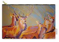 Stag And Deer Painting Carry-all Pouch