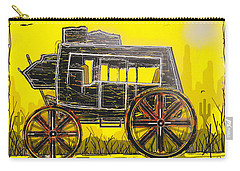 Carry-all Pouch featuring the mixed media Stagecoach by Jason Girard