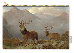 Stags And Hinds In A Highland Landscape Carry-all Pouch