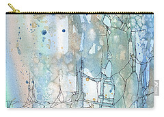Stained Cracks Carry-all Pouch by Rebecca Davis