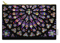 Stained Glass At Notre Dame Carry-all Pouch