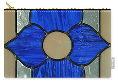 Carry-all Pouch featuring the photograph Stained Glass In Blue by E Faithe Lester