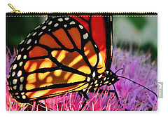 Stained Glass Monarch  Carry-all Pouch
