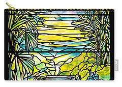 Stained Glass Tiffany Holy City Memorial Window Carry-all Pouch by Donna Walsh