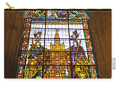 Stained Glass Window In Seville Cathedral Carry-all Pouch by Tony Murtagh