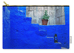 Staircase In Blue Courtyard Carry-all Pouch
