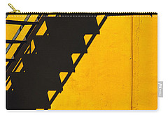 Carry-all Pouch featuring the photograph Staircase Shadow by Silvia Ganora