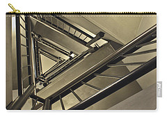Carry-all Pouch featuring the photograph Stairing Up The Spinnaker Tower by Terri Waters