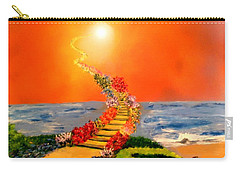 Carry-all Pouch featuring the painting Stairway To Heaven by Michael Rucker