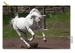 Carry-all Pouch featuring the photograph Stallion D4052 by Wes and Dotty Weber