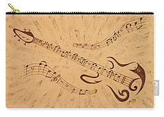 Stand By Me Guitar Notes Original Coffee Painting Carry-all Pouch