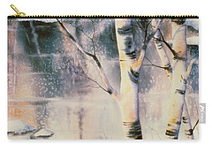 Stand Of Birch Carry-all Pouch