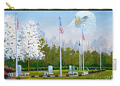 Standing Guard Over Veterans Park Carry-all Pouch