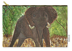 Carry-all Pouch featuring the painting Standing My Ground by Tracey Williams