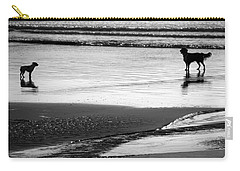 Standoff At The Beach Carry-all Pouch by Aidan Moran