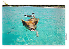 Staniel Cay Swimming Pig Seagull Fish Exumas Carry-all Pouch
