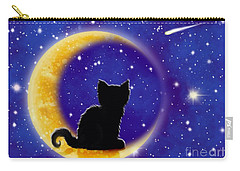 Star Gazing Cat Carry-all Pouch by Nick Gustafson