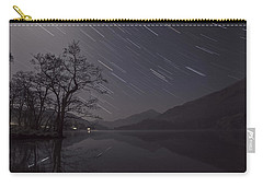 Star Trails Over Lake Carry-all Pouch by Beverly Cash