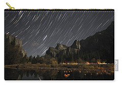 Star Trails Over Yosemite Carry-all Pouch