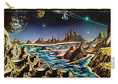 Star Trek - Orbiting Planet Carry-all Pouch by Michael Rucker