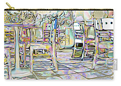 Carry-all Pouch featuring the digital art Starbucks After Hours by Mark Greenberg