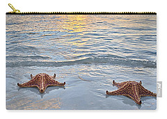 Carry-all Pouch featuring the photograph Starfish Beach Sunset by Adam Romanowicz