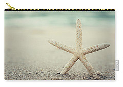 Starfish On Beach Vintage Seaside New Jersey  Carry-all Pouch by Terry DeLuco