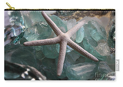 Starfish With Sea Glass Carry-all Pouch by The Art of Alice Terrill