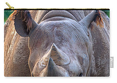 Staring Down Rhino Carry-all Pouch
