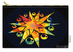Staring Into Eternity Abstract Stars And Circles Carry-all Pouch