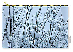 Stark Beauty - Snow On Branches Carry-all Pouch