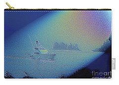 Carry-all Pouch featuring the digital art Starlight Cruising by Victoria Harrington