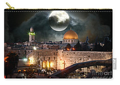 Full Moon At The Dome Of The Rock Carry-all Pouch