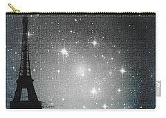 Starry Night In Paris - Eiffel Tower Photography  Carry-all Pouch
