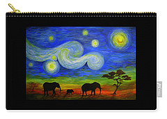 Starry Night Over Africa Carry-all Pouch