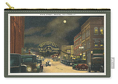 State Street Bristol Va Tn At Night Carry-all Pouch