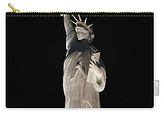 Carry-all Pouch featuring the photograph Statue Of Liberty After Midnight by Ivete Basso Photography