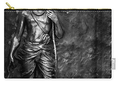 Statue Of Lord Sri Ram Carry-all Pouch by Kiran Joshi