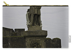 Statue Of Robert The Bruce On The Castle Esplanade At Stirling Castle Carry-all Pouch by Ashish Agarwal