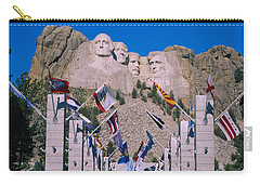 Statues On A Mountain, Mt Rushmore, Mt Carry-all Pouch