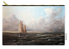 Carry-all Pouch featuring the painting Staying Ahead Of The Weather by Lee Piper