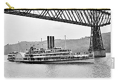 Steamer Albany Under Poughkeepsie Trestle Black And White Carry-all Pouch