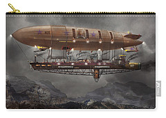 Steampunk - Blimp - Airship Maximus  Carry-all Pouch by Mike Savad
