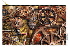 Steampunk - Gears - Inner Workings Carry-all Pouch by Mike Savad