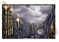 Steampunk Moon Invasion Carry-all Pouch