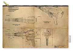 Steampunk Raygun Carry-all Pouch by James Christopher Hill