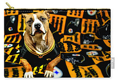 Pitbull Rescue Dog Football Fanatic Carry-all Pouch